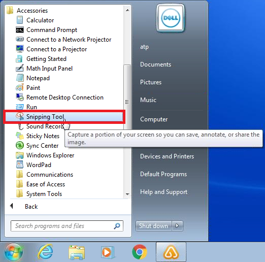 Use Snipping Tool and Print Screen - ABLE Technology